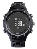 Sport-Uhr HerrenLCD / Höhenmesser / Compass / Pulsmesser / Thermometer / Kalender / Chronograph / Wasserdicht / Duale Zeitzonen /