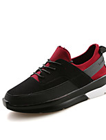 Men's Running Shoes Leather / Suede Black / Red / White