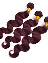 Burgundy Brazilian Hair Bundles 3pcs Burgundy Body Wave 99j Brazilian Hair 6A Red Wine Human Hair Bundles