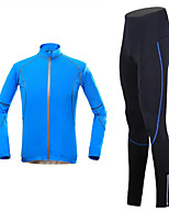 KORAMAN Summer Men's Cycling Suit Long Sleeve Jersey and Tights Lycra Breathable Quick-dry