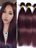 3PCS Brazilian Straight Hair Ombre Human Hair Weaves #99J Color Hair 12-24 inch Virgin Hair