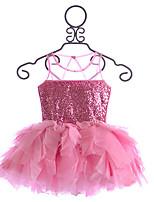 Girl's Multi-color Dress , Ruffle Cotton Summer