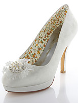 Women's Wedding Shoes Heels / Round Toe Heels Wedding / Party & Evening / Dress Ivory
