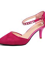 Chaussures Femme-Mariage / Habillé / Soirée & Evénement-Noir / Rouge / Argent-Talon Aiguille-Talons / Bout Pointu-Talons-PVC