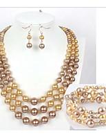 Conjunto de joyas Perla Artificial Perla Artificial De mujeres