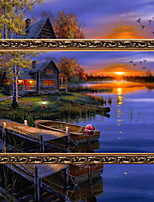 DIY 5D Diamonds Embroidery Sunset Dusk Magic cube Round Painting Cross Stitch Kits Diamond Mosaic Home Decoration