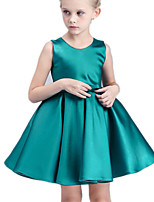 Girl's Green / Red Dress Cotton / Polyester Summer