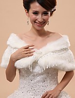Wedding / Party/Evening Faux Fur Capelets Sleeveless Wedding  Wraps / Fur Wraps / Hoods & Ponchos