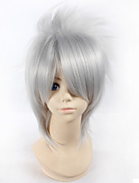 Naruto Hatake Kakashi 28cm Short Straight Silver Color Men's Anime Cosplay Full Wig