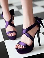Women's Shoes Heel Heels / Peep Toe / Platform Sandals / Heels Party & Evening / Dress / Casual Black / Purple/920-3