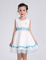 Girl's Blue / Pink Dress,Print Polyester All Seasons