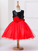 Girl's Red Dress Polyester Summer