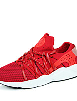 Women's Shoes Tulle / Fabric Flat Heel Comfort / Round Toe Fashion Sneakers Outdoor / Athletic Black / Red