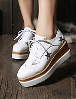 Scarpe Donna-Sneakers alla moda-Tempo libero / Casual-Creepers-Plateau-Finta pelle-Nero