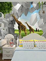 JAMMORY Art Deco Wallpaper Contemporary Wall Covering,Other A Large Mural Wallpaper Cartoon Giraffe