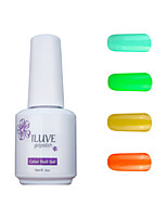 ILuve Gel Nail Polish Set - Pack Of 4 - Long Lasting 3 Weeks Soak Off UV Led Gel Varnish – For Nail Art #4018
