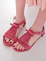 Women's Shoes Heel Peep Toe Sandals Outdoor / Dress / Casual Black / Blue / Green / Red/-58