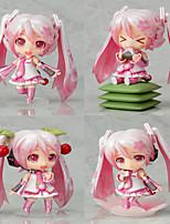 Vocaloid Sakura Miku PVC One Size Anime Action Figures Model Toys  Q Version 1Set 10cm
