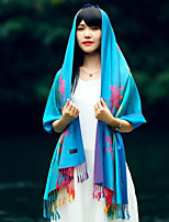 Ms Winter National Wind Long Cotton Shawl Korean Bohemian Fringed Shawl