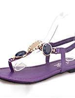 Women's Shoes  Flat Heel Flip Flops Sandals Office & Career / Casual Purple / Beige