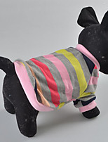 Hunde Mäntel / Kleidung / Kleidung Rosa Sommer / Frühling/Herbst Streifen Gestreift / Modisch-Lovoyager