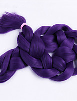1-12packs Purple Color Braiding Hair High Temperature braiding hair 100g/pcs synthetic braiding hair Extensions