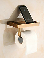 Contemporary Brass Antique Copper Wall Mounted Toilet Paper Holder
