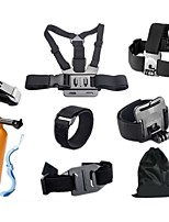 Gopro Accessories 10 in 1 set Chest Strap Monopod Floating Bobber Mount for Go pro Hero 4 3+Xiaomi Yi