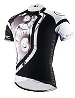 PaladinSport Men 's Short Sleeve Cycling Jersey DX618 mechanical black 100% Polyester