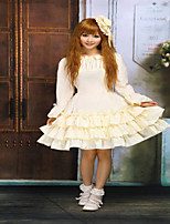 Steampunk®Ivory Long Sleeves Multi Layers Sweet Lolita Dress
