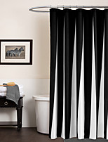 Modern Simple Black and White Stripe Rectangle Shower Curtains 71x72inch,71x79inch