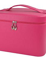 Women PU Professioanl Use Cosmetic Bag-Pink / Red / Black