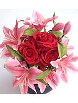 Buquês(Rosa / Marfim,Cetim / Elastano) - deRosas / Lírios