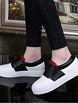 Women's Shoes Leatherette Platform Comfort Loafers Outdoor / Casual Black / White / Gray