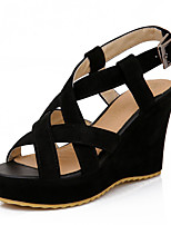 Women's Shoes Wedges Heels/Platform Sandals Dress Black/Gray