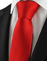 New Solid Red Men Tie Necktie Formal Wedding Party Holiday Valentine Gift KT1019