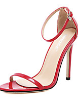 Women's Shoes PU Stiletto Heel Heels / Open Toe Sandals Outdoor / Casual Black / Red / White / Almond