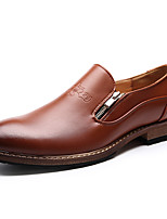 Men's Shoes Wedding / Office & Career / Party & Evening Nappa Leather Oxfords Black / Brown