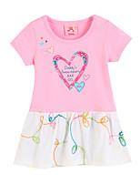 Girl's Pink Dress,Floral Cotton Summer / Spring