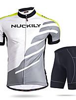 Set di vestiti/Completi-Attività ricreative / Ciclismo-Per uomo-Maniche corte-Traspirante / Resistenteai raggi UV / Permeabile