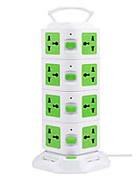 Vertical Multi-outlet Socket with USB Multifunction Creative Cube Inserted Row Eight Holes Intelligent Power
