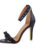 Women's Shoes Velvet Stiletto Heel Heels / Peep Toe Sandals Dress / Casual Black / Blue / Pink / Red / Gray / Almond