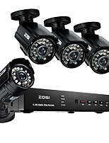 ZOSI@8CH 960H HDMI DVR 4PCS 800TVL Outdoor CCTV Home Security Camera System