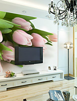 JAMMORY Floral Wallpaper Contemporary Wall Covering,Other Large 3D Mural Wallpaper Lily
