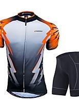 Ensemble de Vêtements/Tenus(Orange) deSport de détente / Cyclisme/Vélo-Respirable / Perméabilité à l'humidité / Zip frontal / Sac de