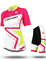 KEIYUEM®Unisex Short Sleeve Spring / Summer / Autumn Cycling Clothing  /Suits ShortsWaterproof / Breathable  Quick Dry