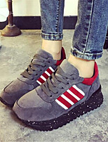 Women's Shoes Canvas Flat Heel Comfort Fashion Sneakers Outdoor / Athletic Black / Gray