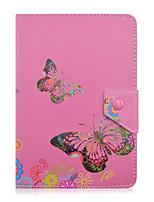flor borboleta padrão caso tablet couro universal tampa da caixa de suporte de 7 polegadas para o tablet pc cover inversão magnética de 7