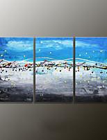 Met de hand geschilderde landschap modern olieverfschilderij, canvas drie panelen