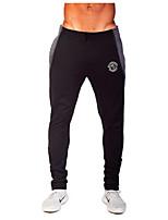 Hombres Carrera Prendas de abajo / Pantalones Deportes recreativos / Running Transpirable / Reductor del Sudor Gris / Negro OtrosRopa